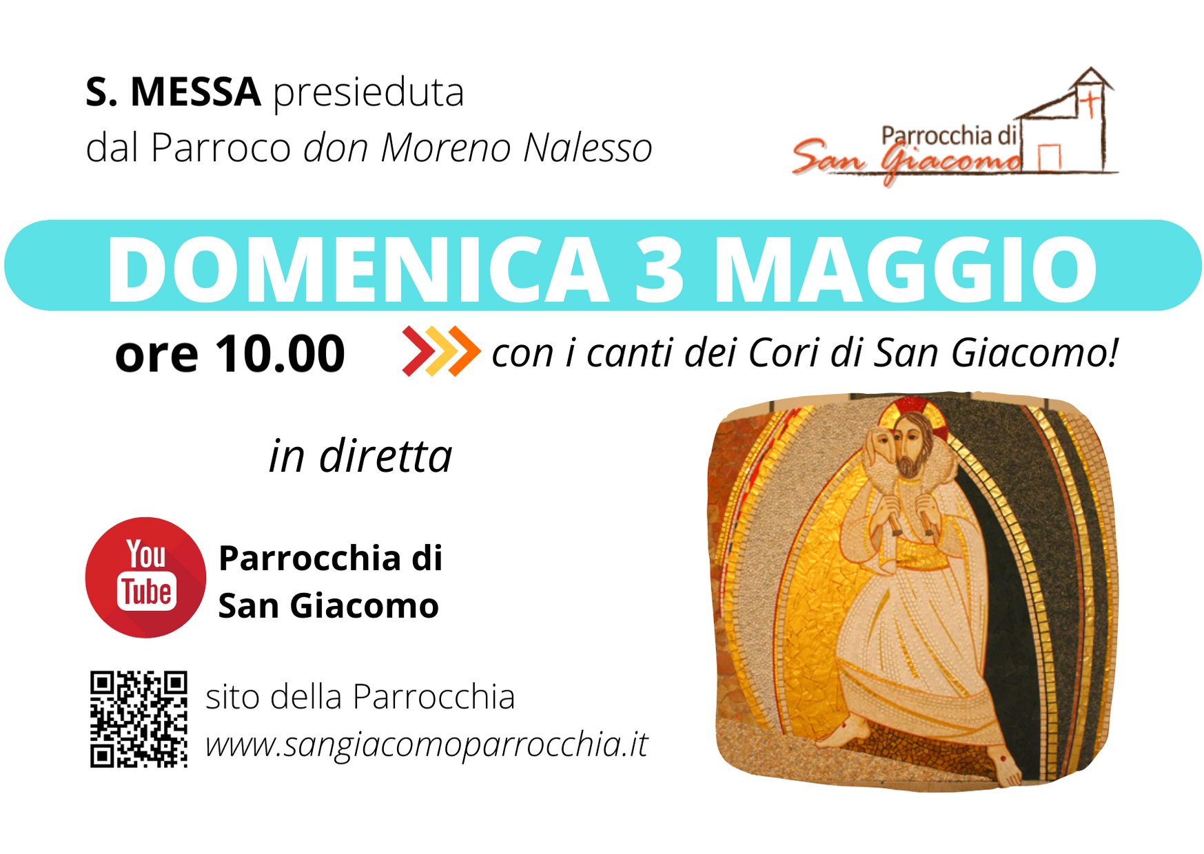 S. MESSA IN STREAMING 3 MAGGIO