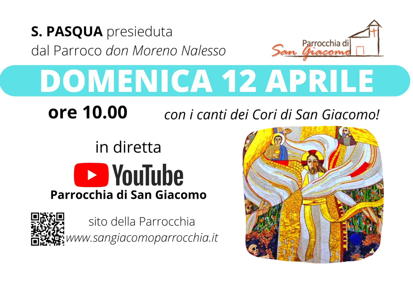 S. MESSA IN STREAMING 12 APRILE