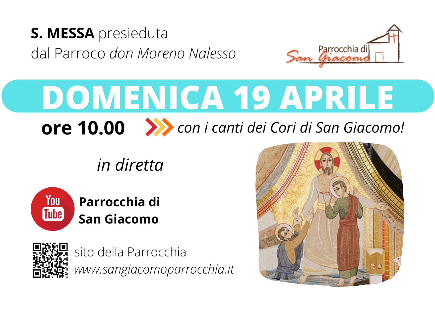 S. MESSA IN STREAMING – 19 APRILE