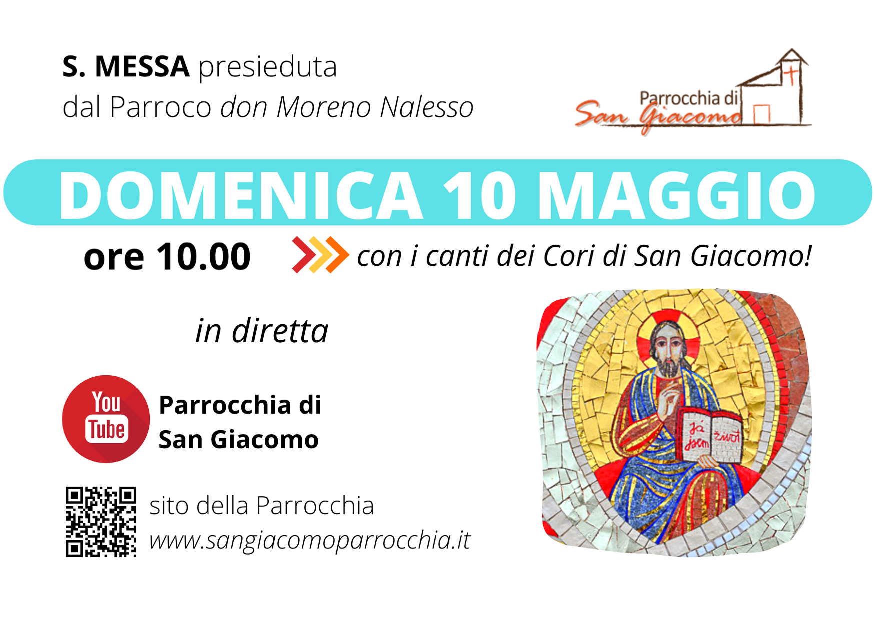 S. MESSA IN STREAMING 10 MAGGIO