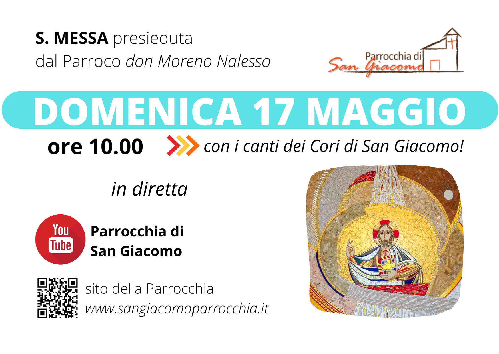 SANTA MESSA IN STREAMING 17 MAGGIO
